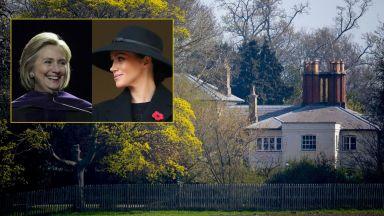 Меган и Хилари Клинтън проведоха тайна среща във Фрогмор