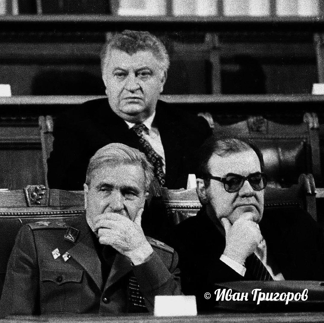 15 ноември 1989 г. - Христо Христов, Добри Джуров и Петър Младенов