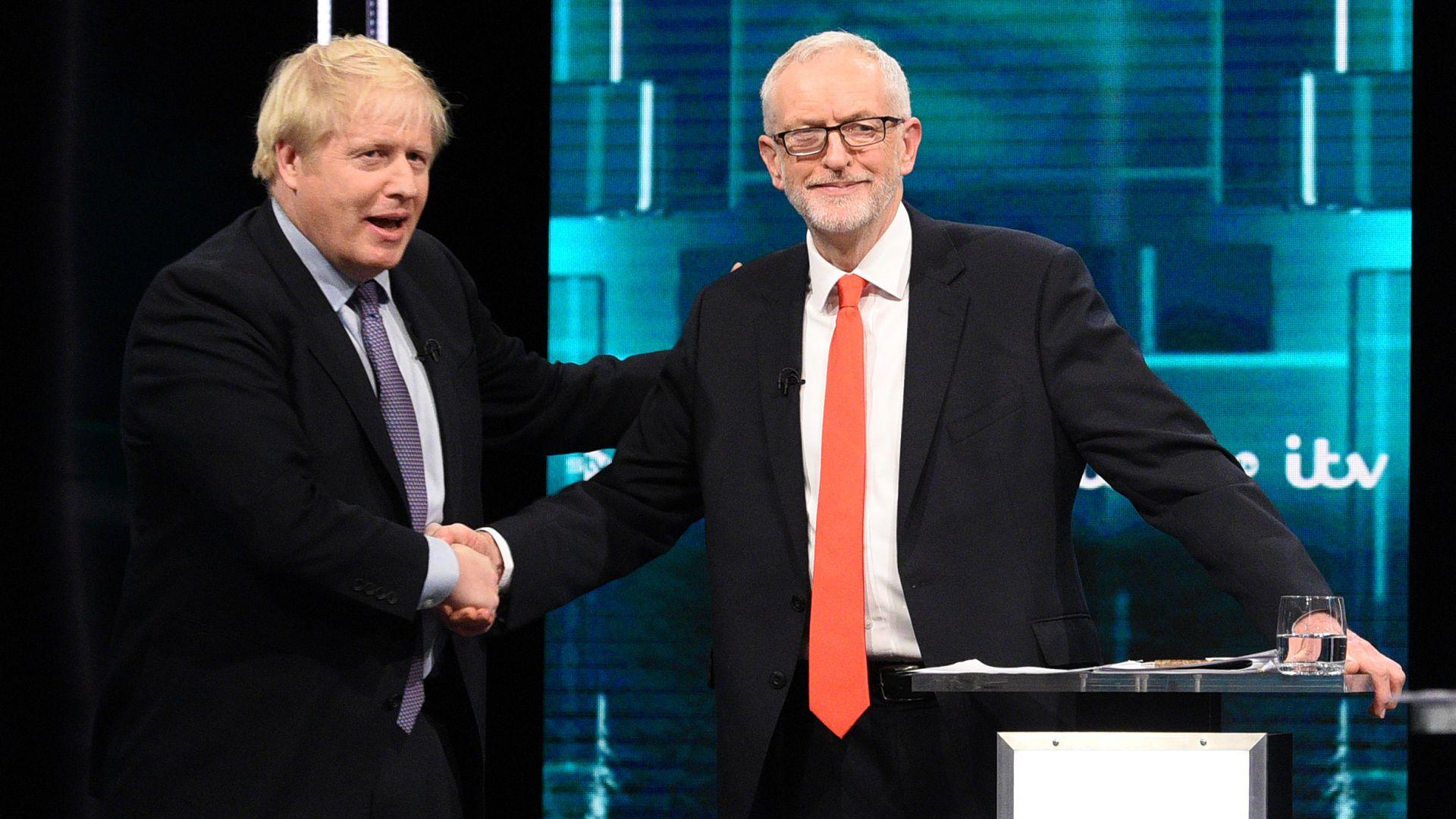 Джонсън и Корбин се сблъскаха в оспорван телевизионен дебат преди изборите (видео)