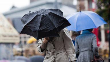Жълт код за обилни дъждове почти в цялата страна в понеделник