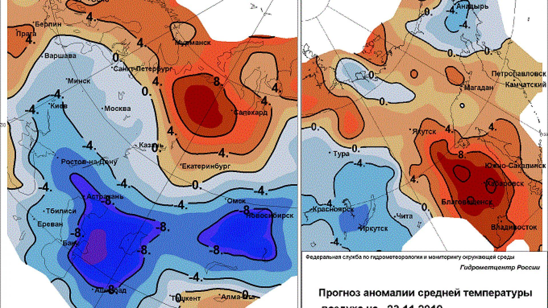 В Сибир студовете отстъпват пред топла вълна от...север!