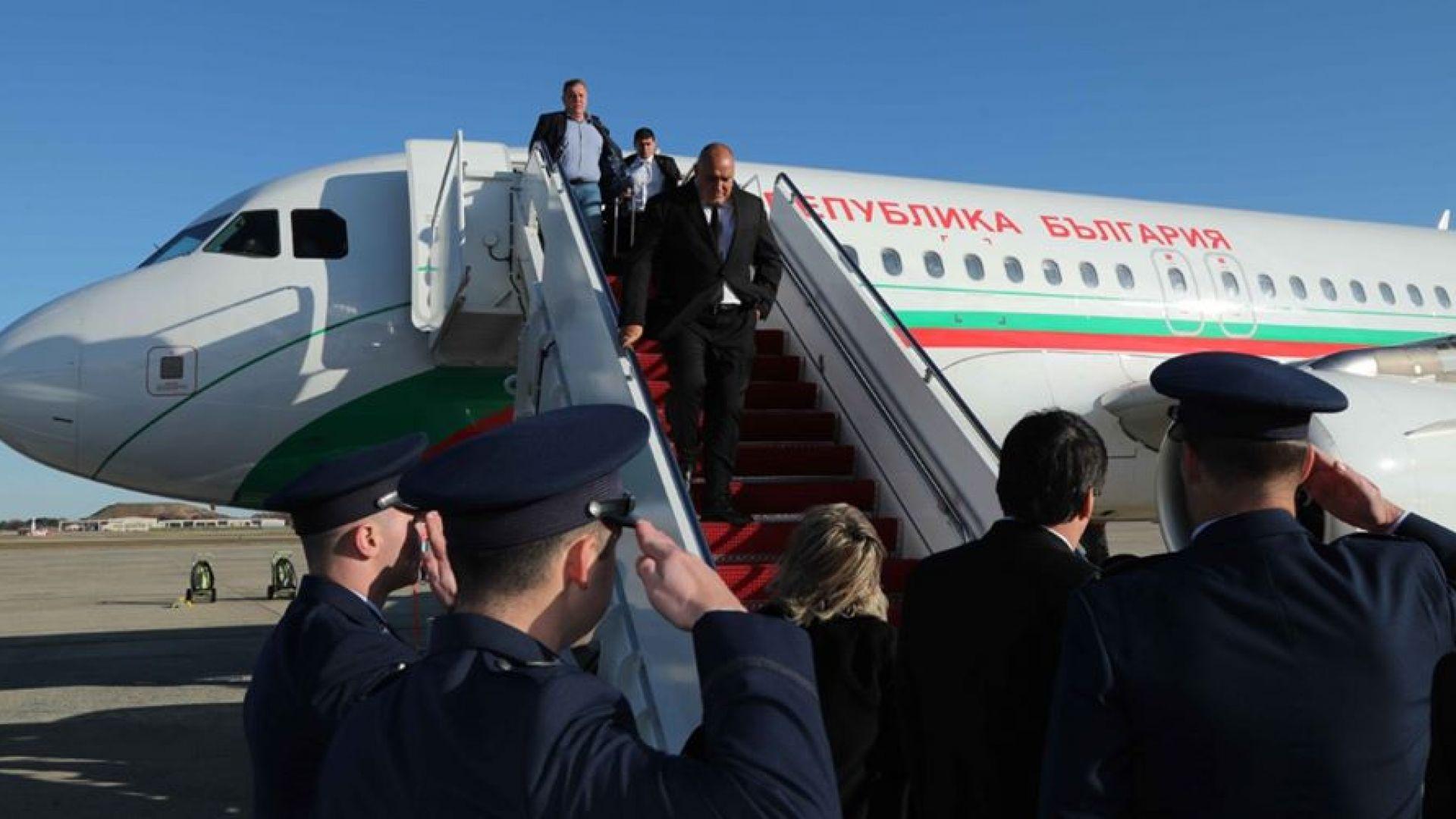 Премиерът Борисов и делегацията вече са в САЩ за срещата с президента Тръмп