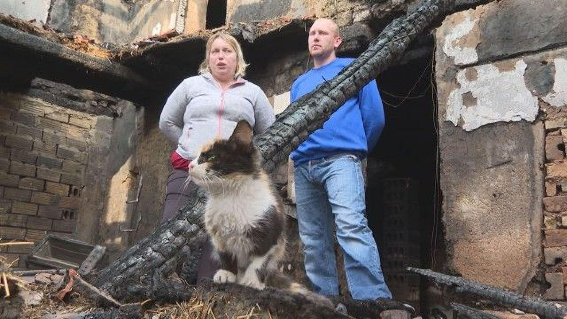 Пожар изпепели дома на младо семейство във великотърновското с. Масларево
