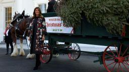 Мелания посрещна коледното дърво в Белия дом във флорално палто D&G
