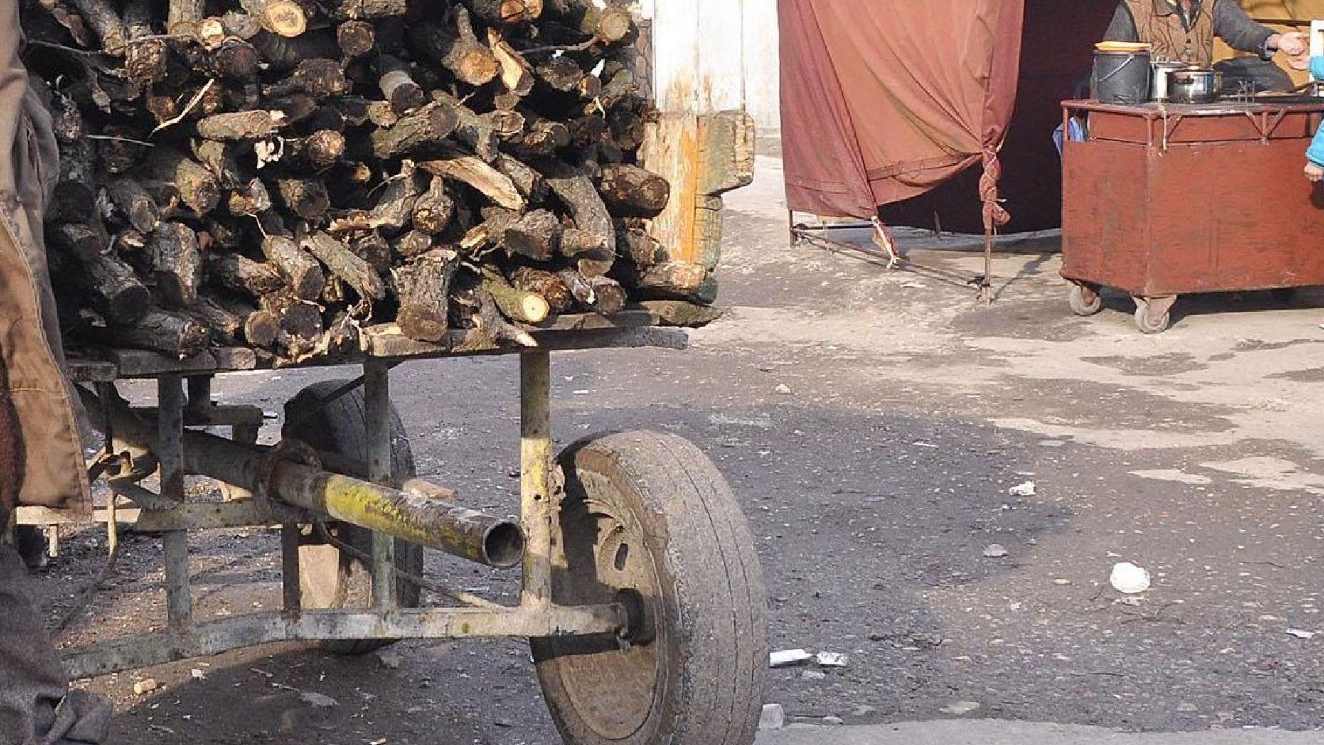 Двама мъже са заловени да пренасят незаконно с каруци дървен