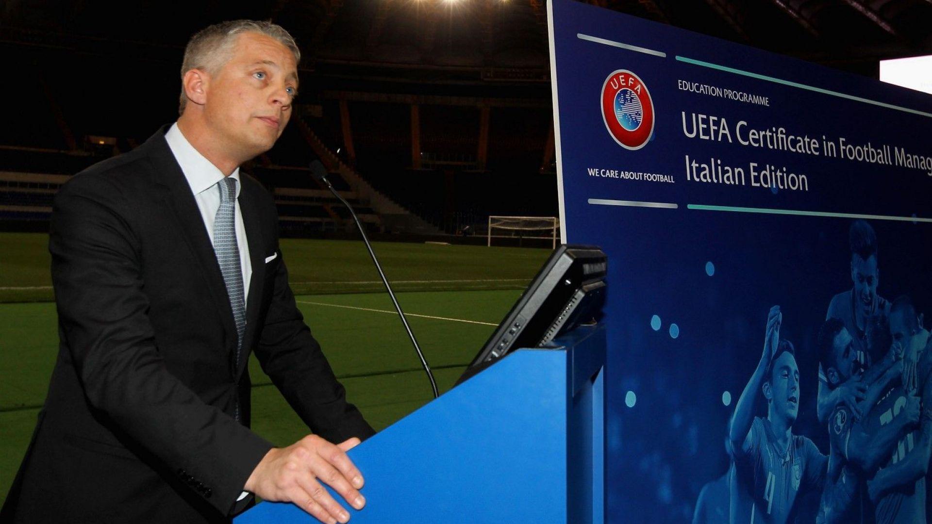 УЕФА прати в София свой шеф да провери има ли държавна намеса във футбола ни