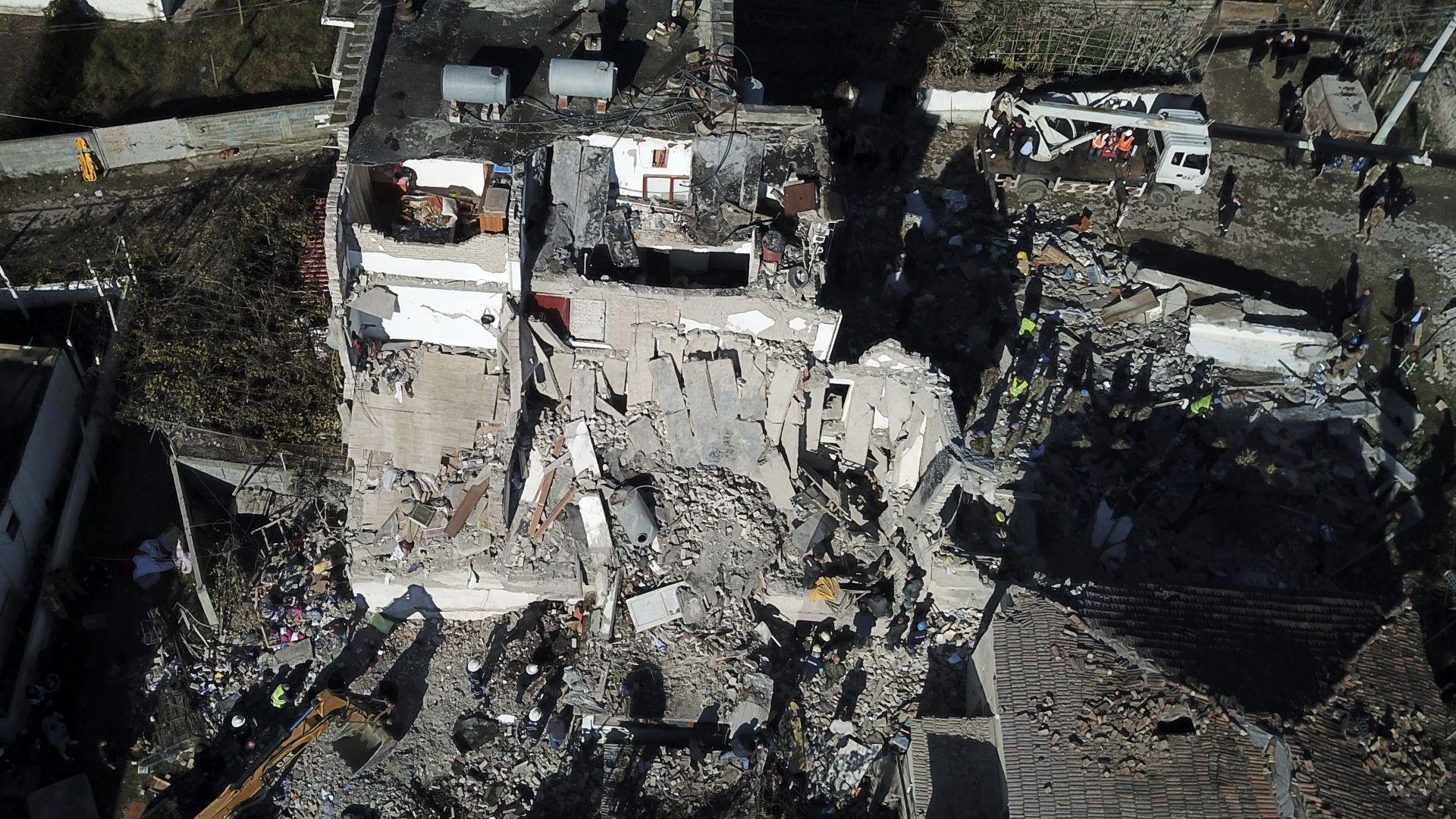 Трусът в Албания е бил със силата на 60 000 тона експлозив