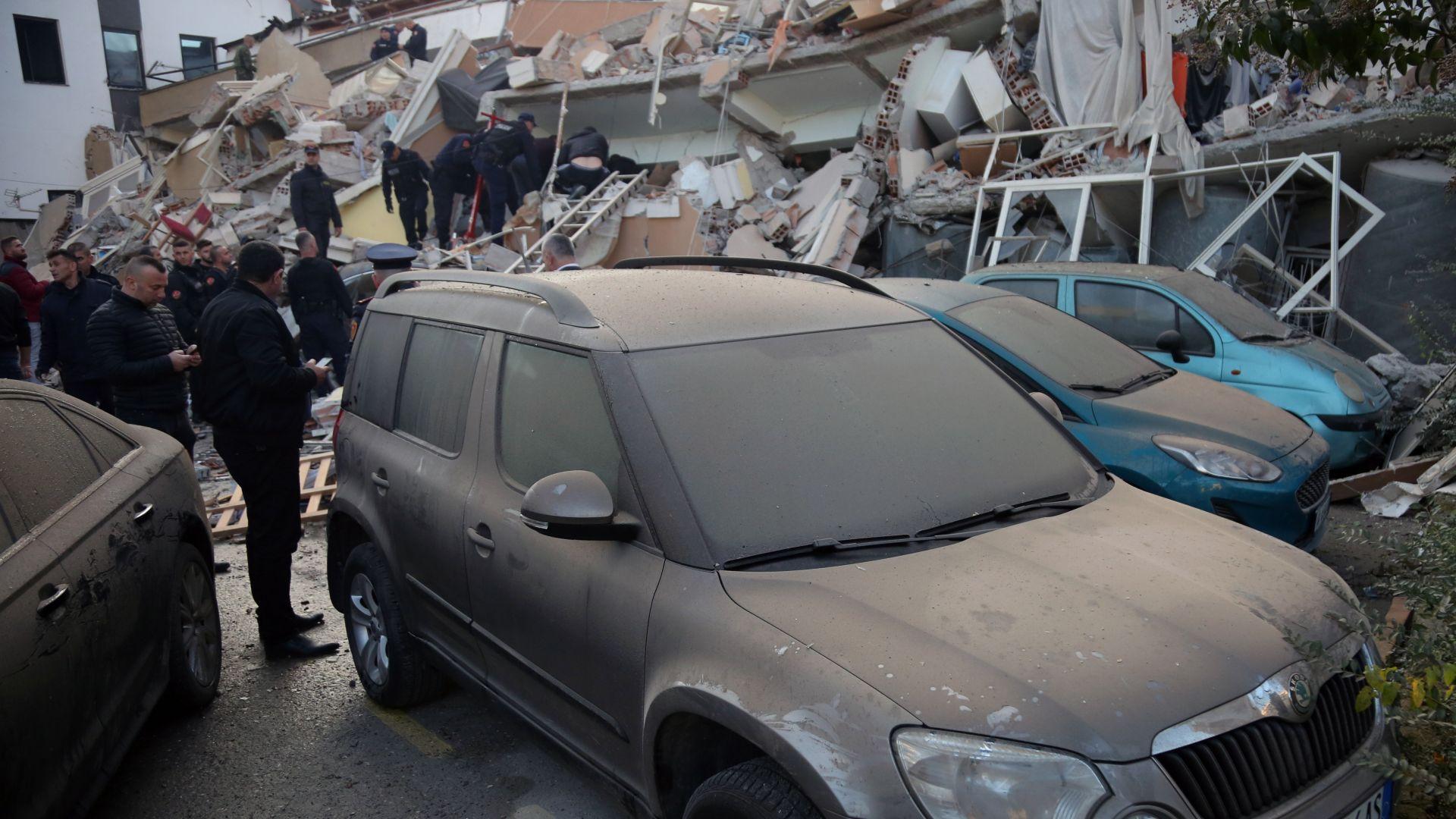 35 са вече жертвите на земетресението в Албания