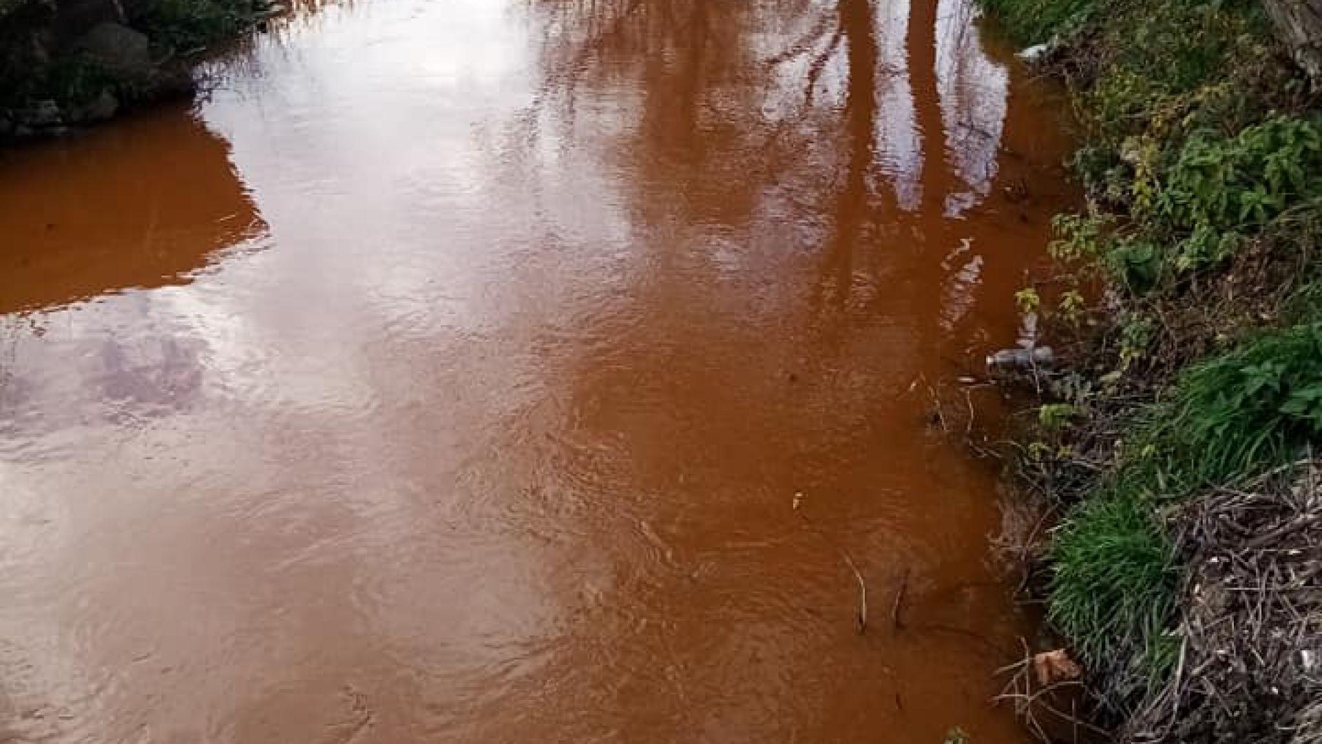 Река Струма потече червена в Перник (снимки)