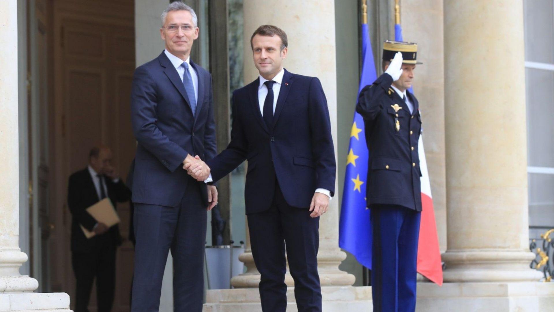 Макрон към шефа на НАТО: Думите ми за мозъчната смърт бяха сигнал за пробуждане