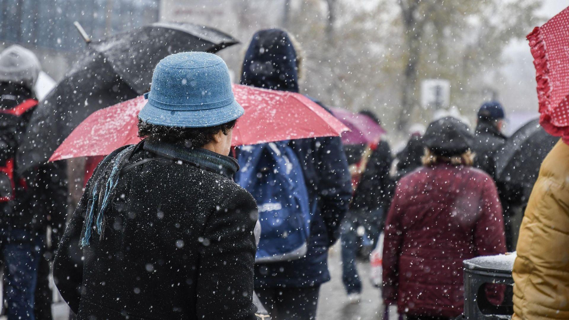 Студен старт на декември - до минус 5 градуса, сняг и дъжд