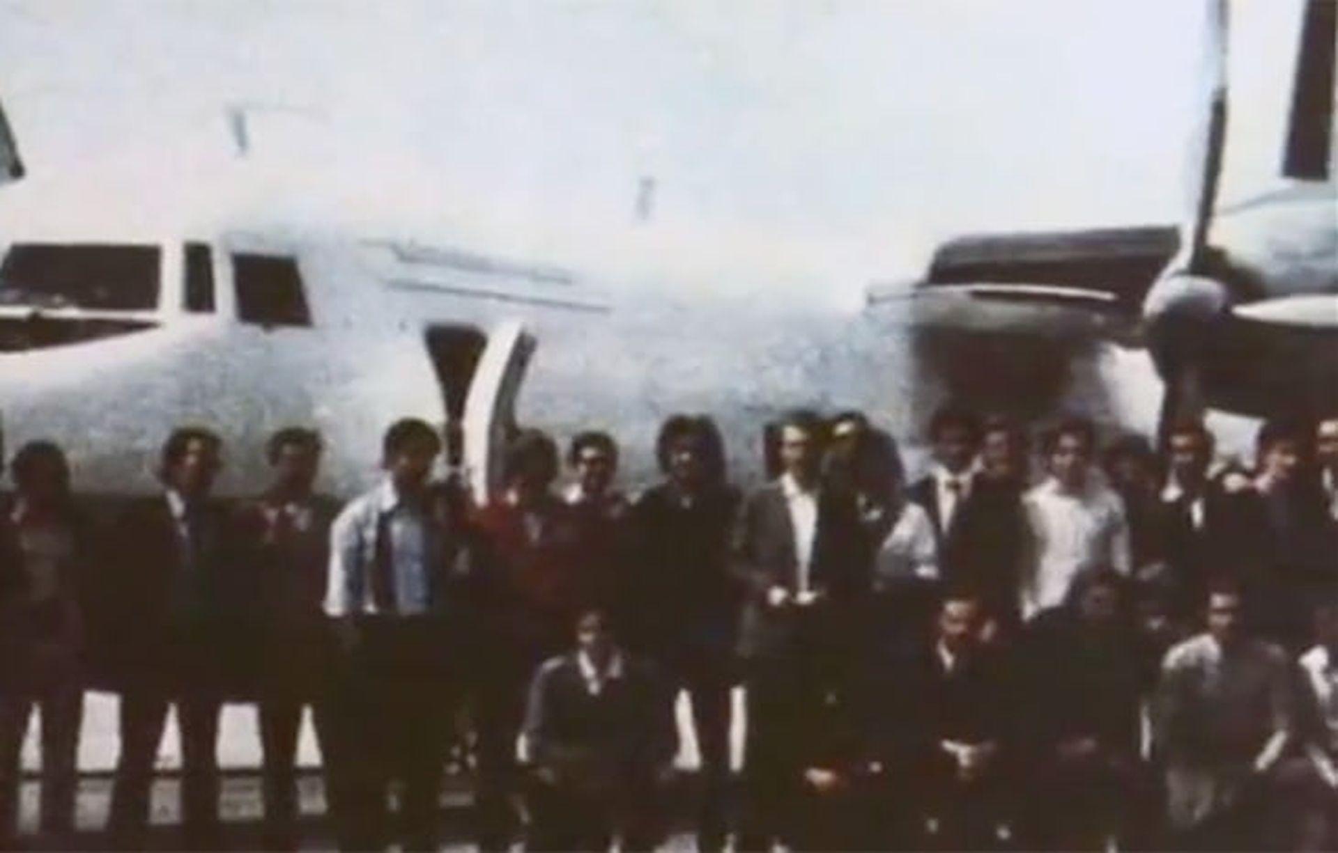 Отборът преди излитането на 13 октомври 1972 г.
