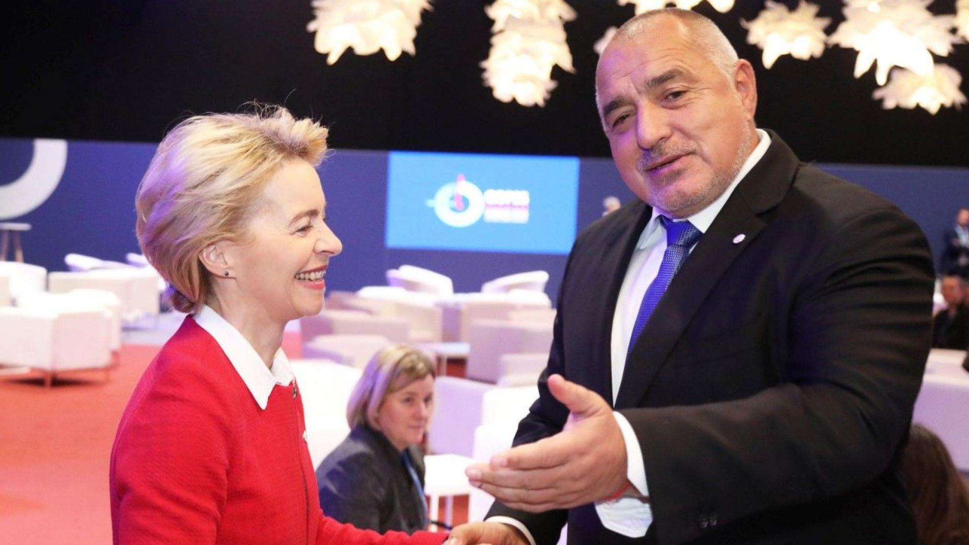 Урсула фон дер Лайен пожела на Борисов бързо възстановяване
