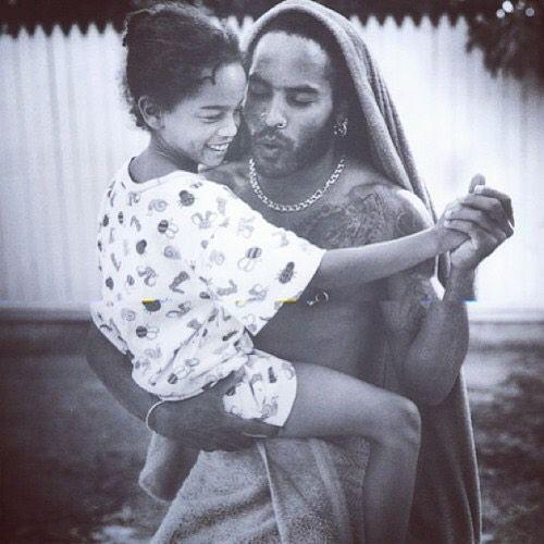 Лени Кравиц с дъщеря си Зоуи