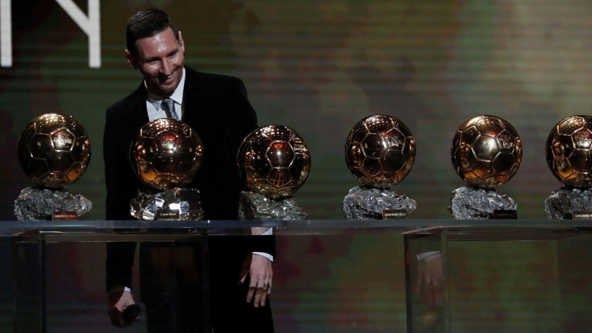 "Недостижим! Лео Меси прегърна шеста ""Златна топка"""