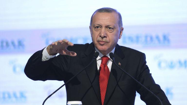 Президентът на Турция Реджеп Тайип Ердоган обвини днес американския си