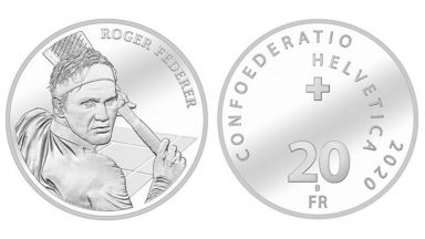 Милиони фенове на Федерер сринаха сайта на швейцарския монетен двор