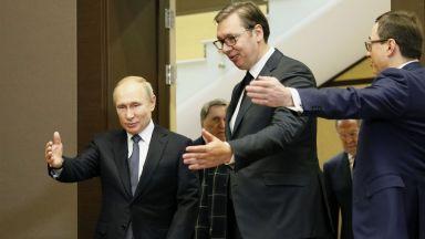 """Вучич към Путин: """"Балкански поток"""" помага за енергийната стабилност на Сърбия"""