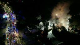 Газова експлозия в полски ски курорт погреба 8 души под 3-етажна сграда (видео)