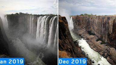 Водопадът Виктория пресъхна