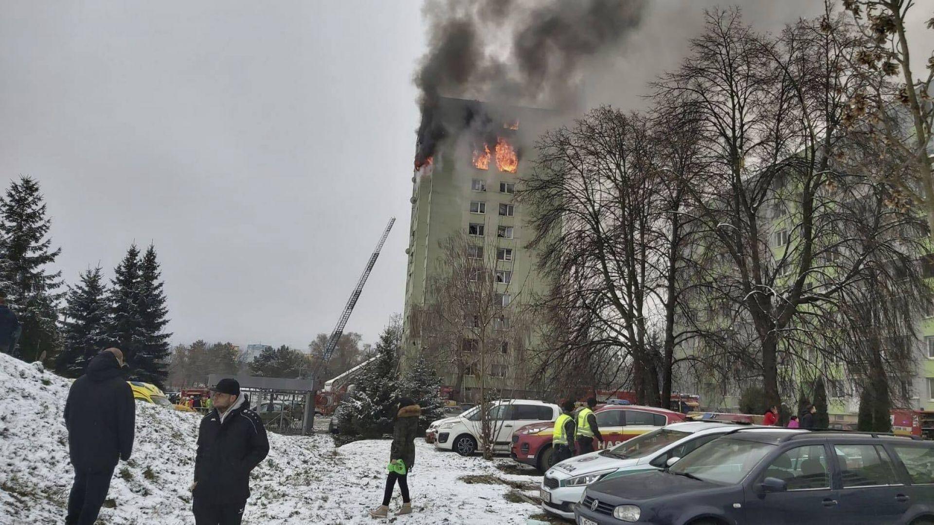 Експлозия на газ е станала днес в 13-етажен блок в