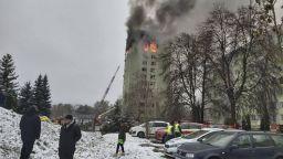 Четирима са загинали, а над 10 ранени при газова експлозия в Словакия, блок може да падне