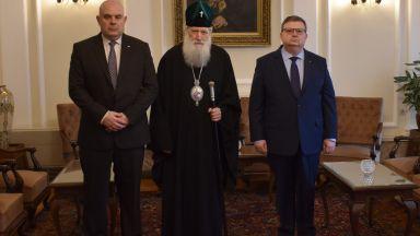 Патриархът прие Сотир Цацаров и Иван Гешев