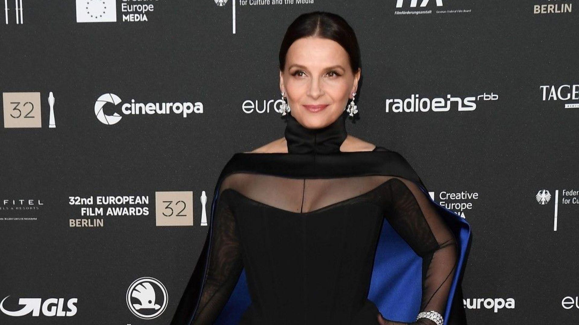 Жулиет Бинош с аристократичен блясък на Европейските филмови награди