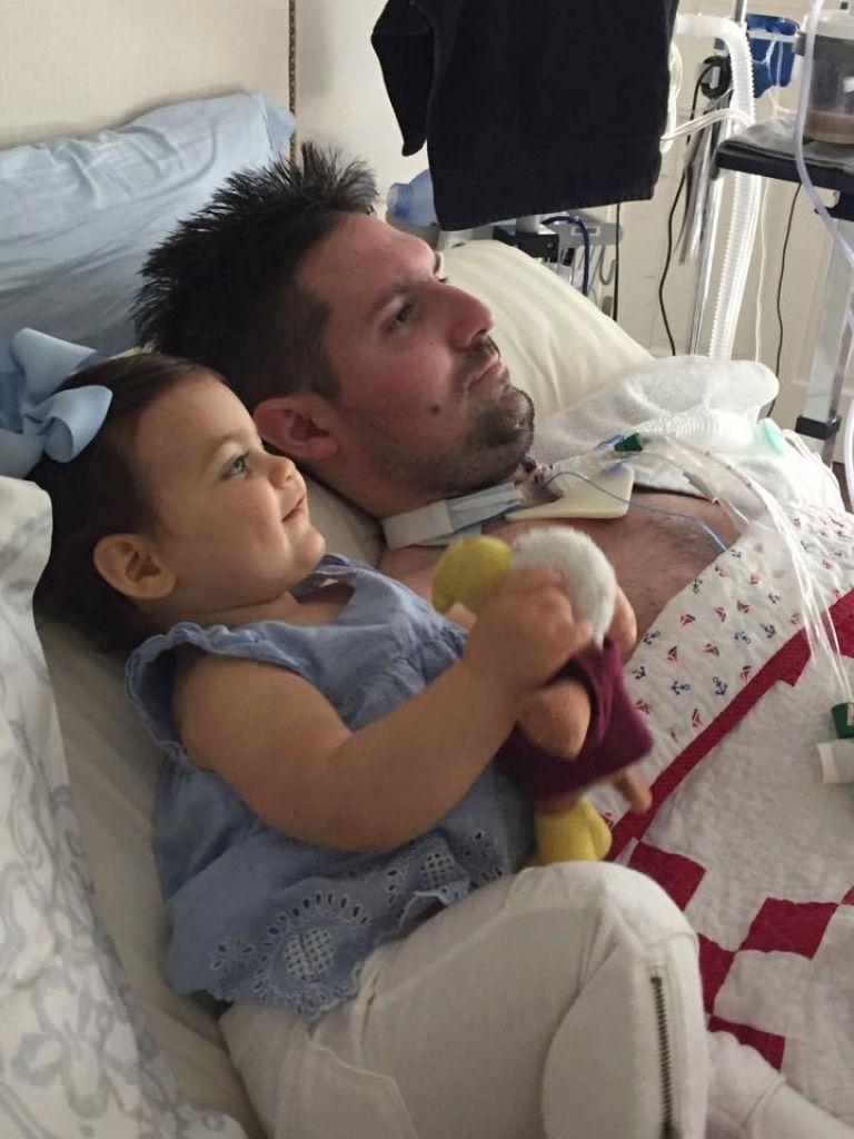 С малката Луси през 2015 г.