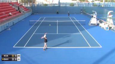 Украински любител смая света на тениса (видео)