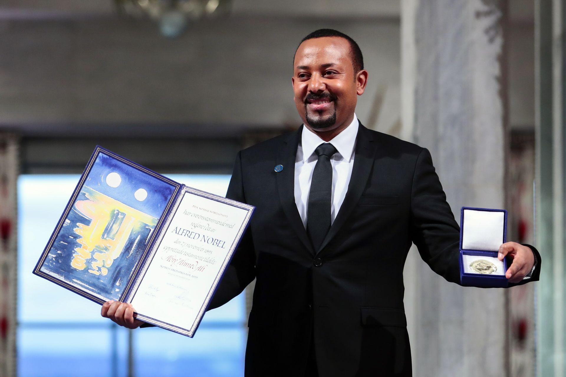 Етиопският премиер Абий Ахмед получи Нобела за мир в Осло