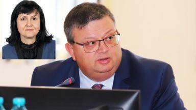 Една от заместничките на Сотир Цацаров подаде оставка
