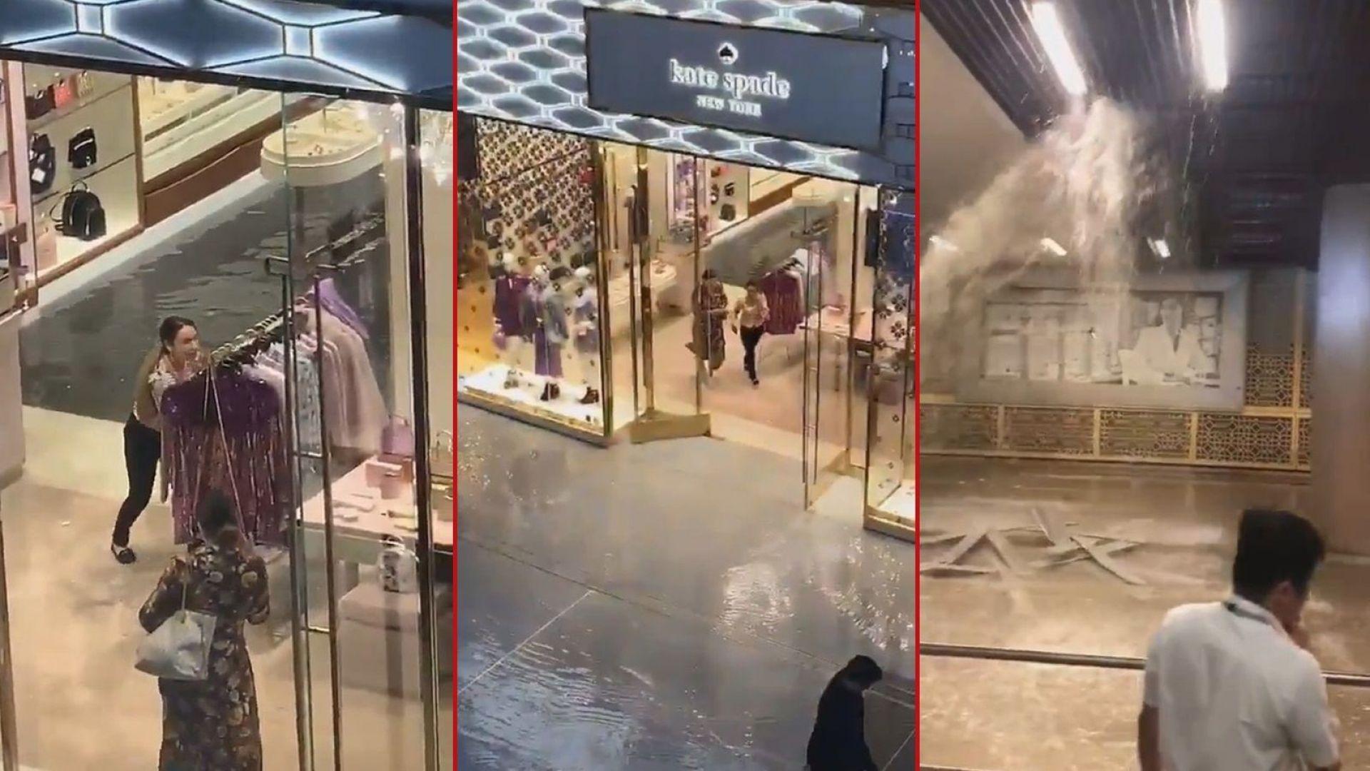 И наводненията не спират пазаруването в Дубай (видео)