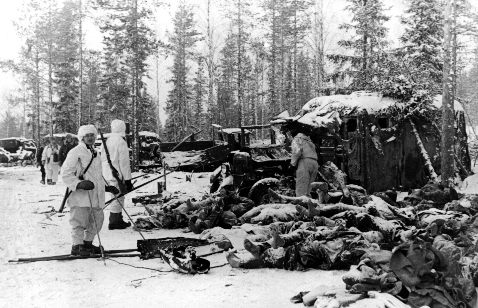 Замръзнали трупове по време на Зимната война