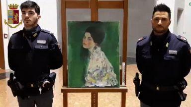 """Изчезнала преди близо 23 години картина на Густав Климт се """"завърна"""" в италианска галерия"""