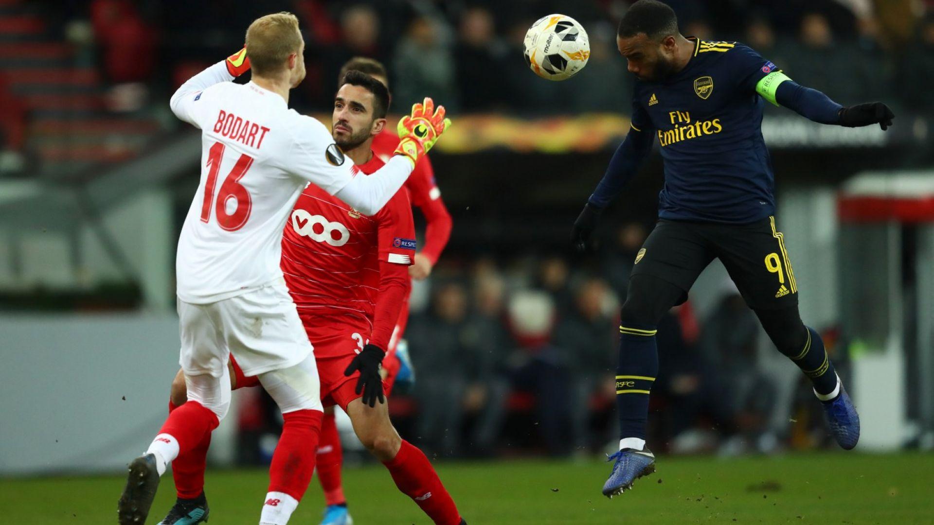 Белгийци се провалиха след 2:0 срещу Арсенал и отпаднаха (резултати)