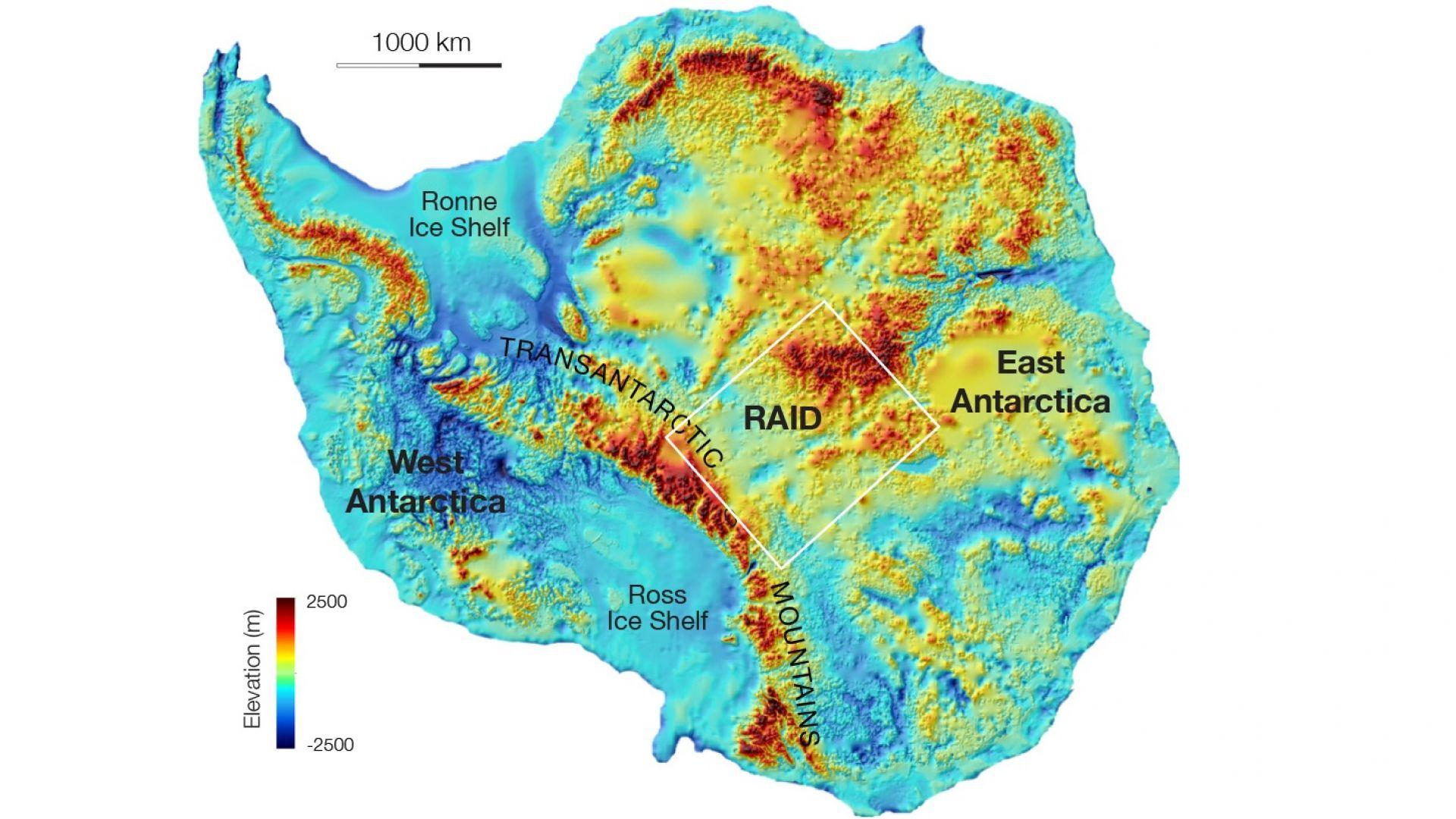 Най-ниската точка на сушата беше открита в Антарктида