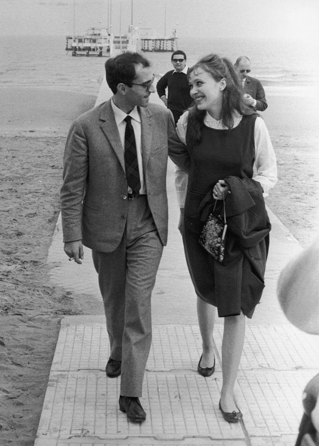Съпрузите Жан-Люк Годар и Ана Карина във Венеция през септември 1963 г.