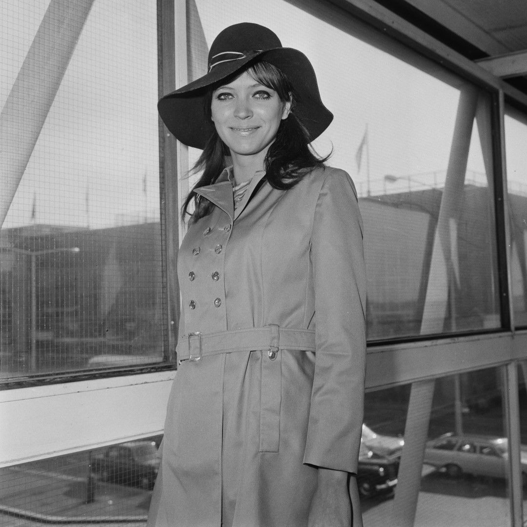 Датско-френската актриса и певица на летището Хийтроу в Лондон, 13 септември 1968 г.
