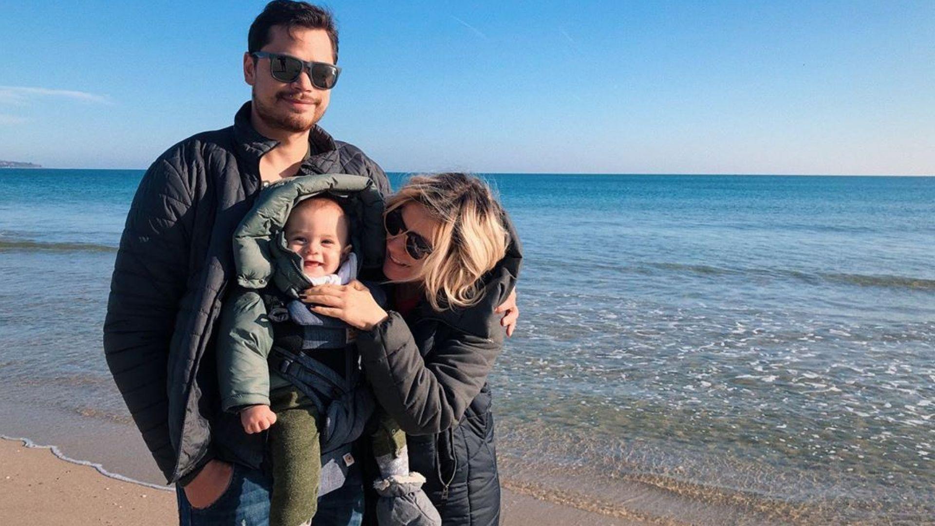 Поли Генова заведе любимите си момчета на зимно море
