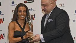 Ивет Лалова получи наградата си за Атлет на годината