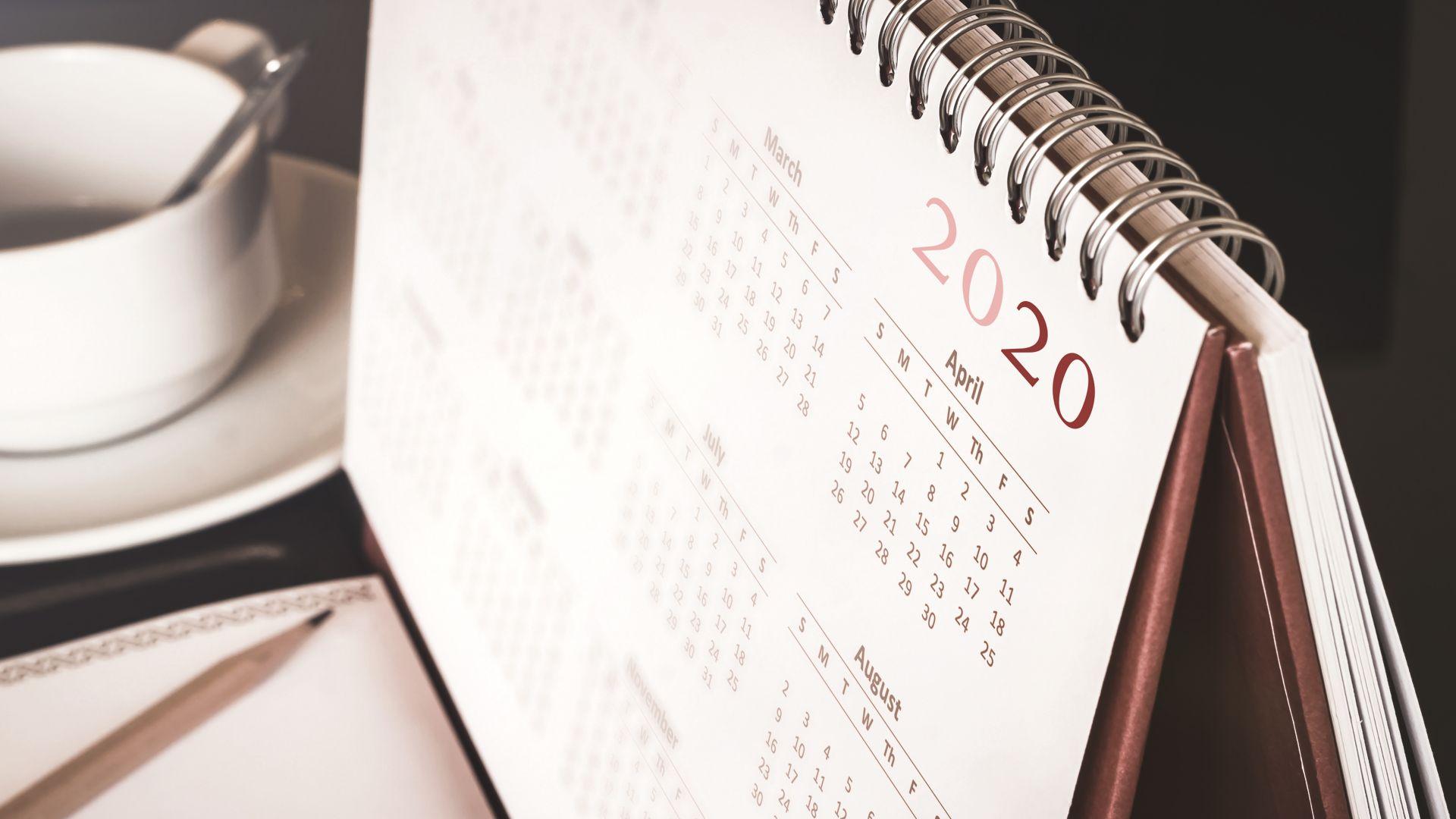 Юли 2020 ще бъде най-натовареният месец с 23 работни дни.