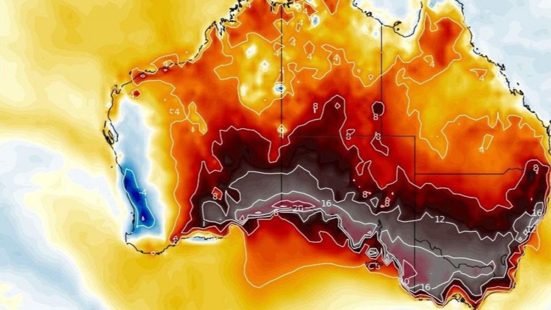 Австралийското лято готви гореща Коледа: над 51 градуса