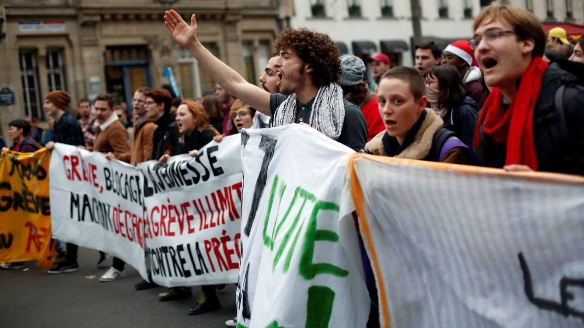 Франция отново е блокирана за 3 дни заради национална стачка