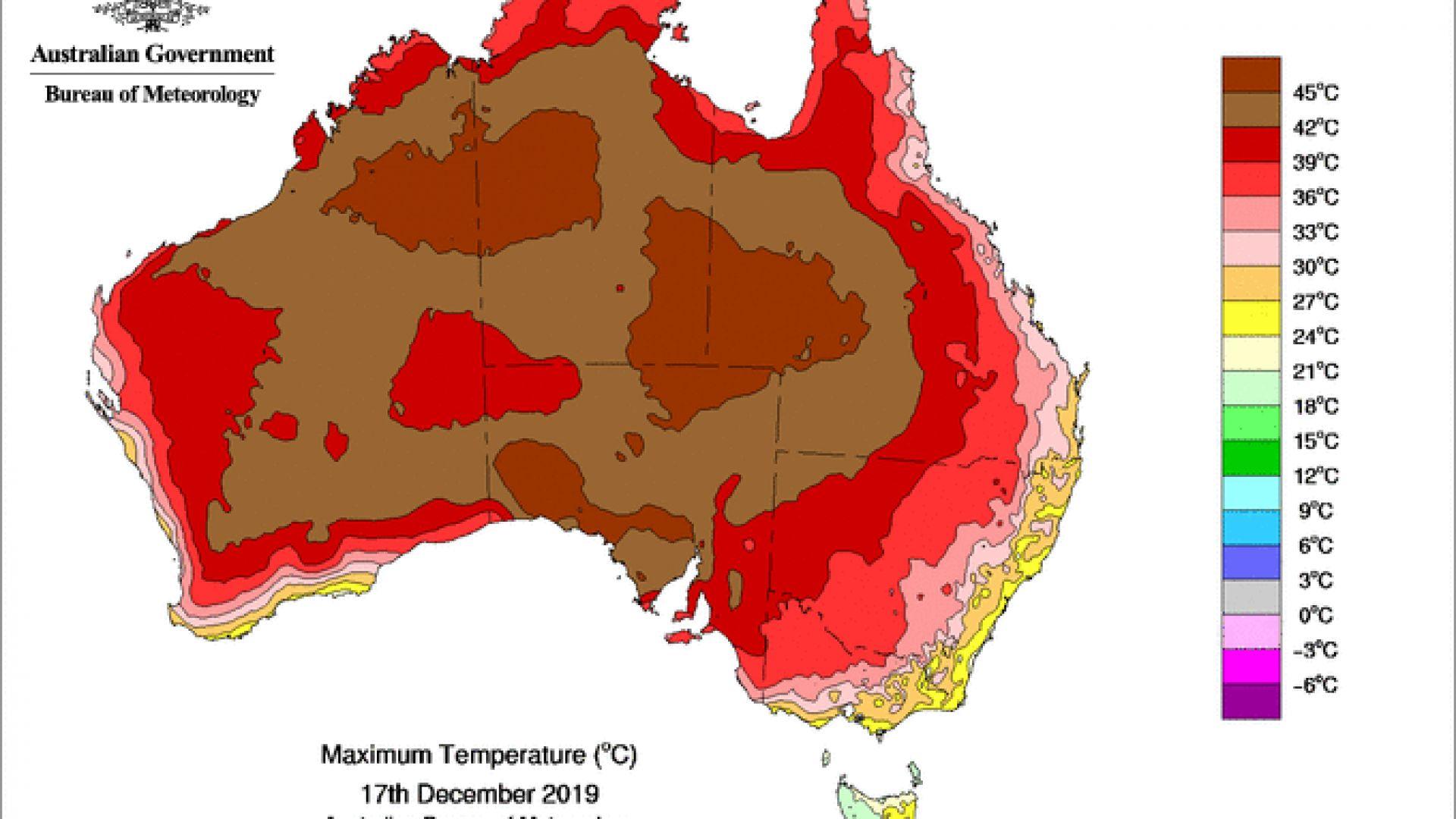 """Огнен """"демон"""" се появи на картата на Австралия"""