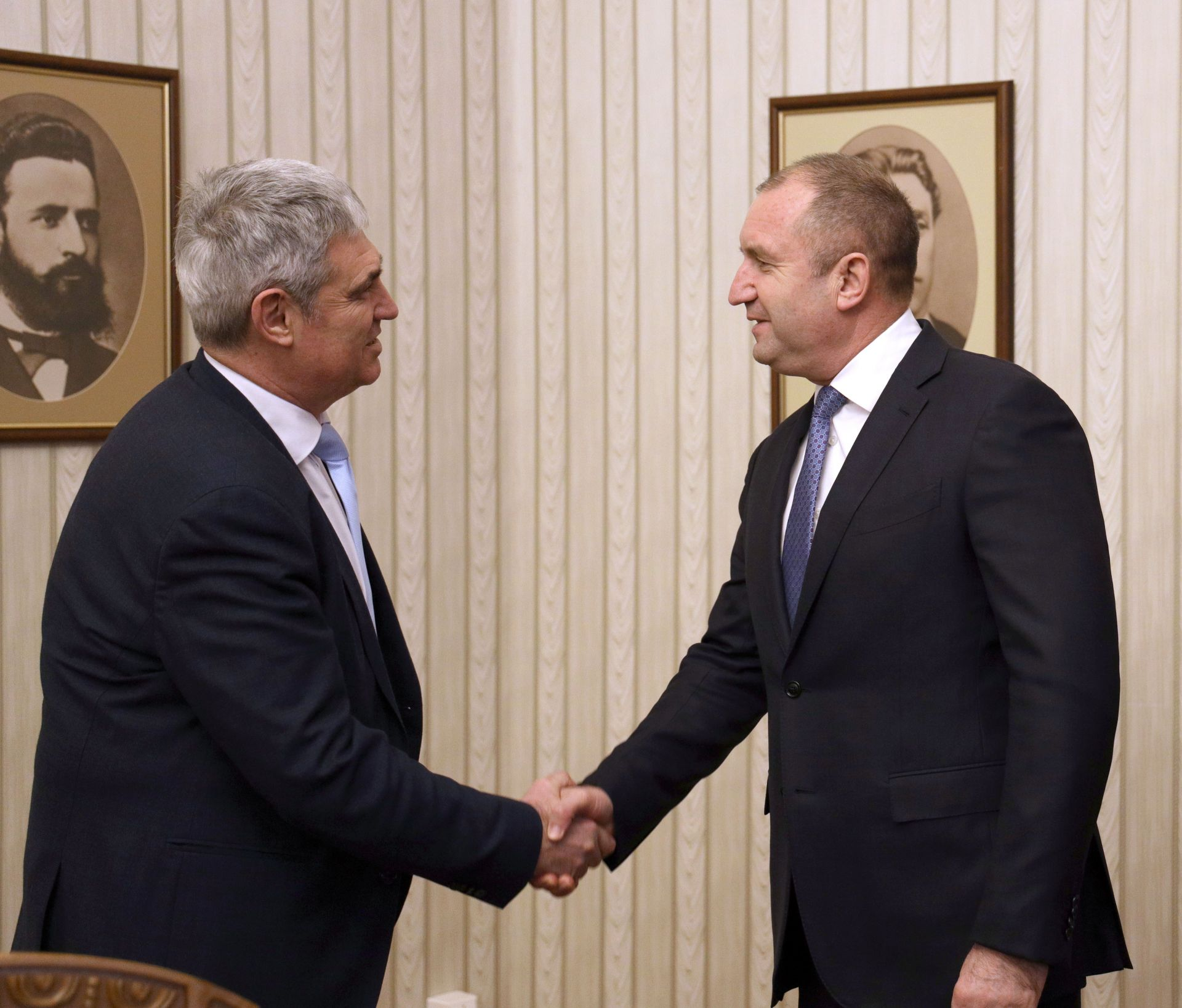 Председателят на КНСБ Пламен Димитров беше приет от президента Румен Радев