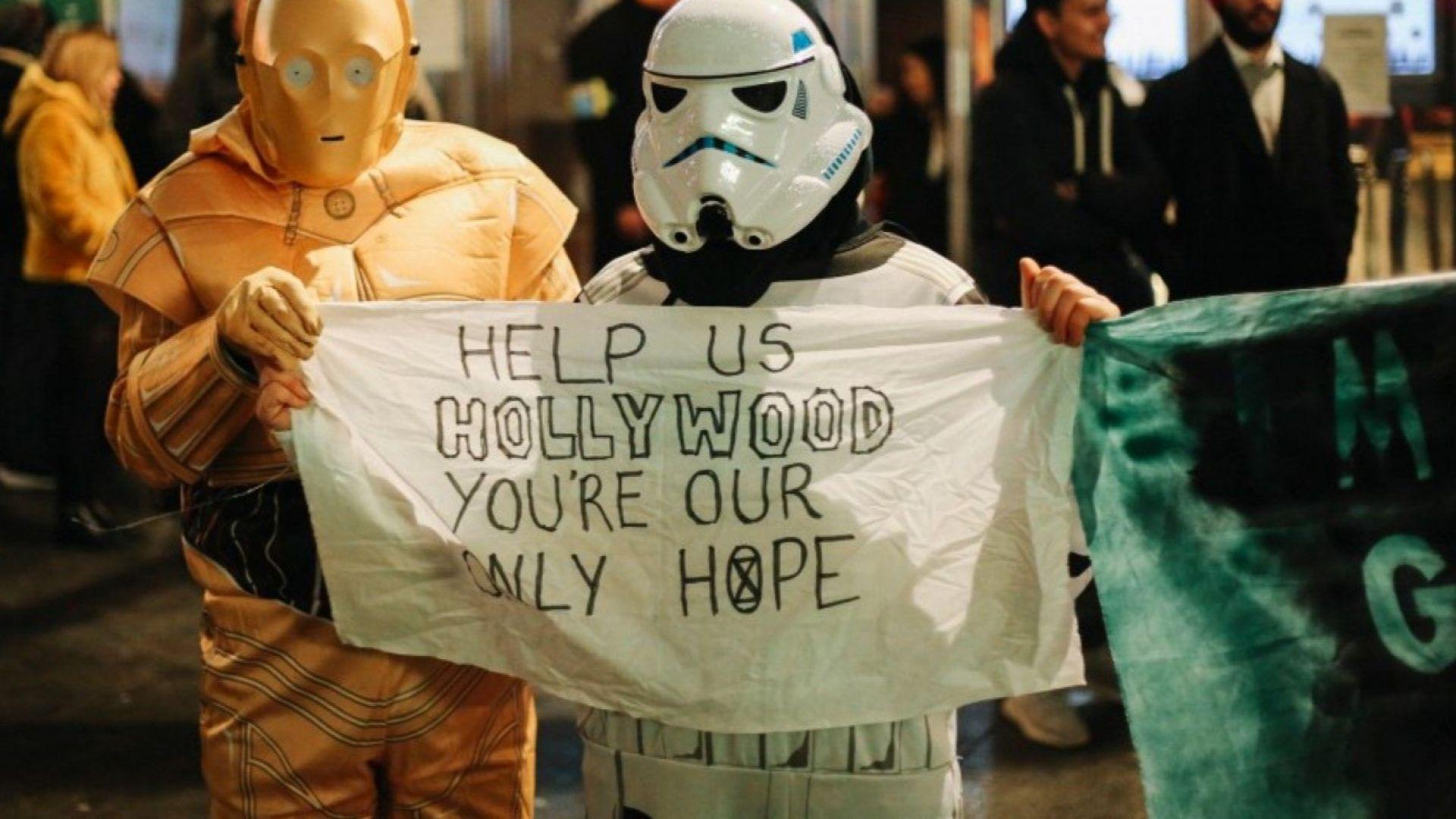 """Екоактивисти на премиерата на """"Междузвездни войни"""": Помогни ни, Холивуд, ти си единствената ни надежда"""