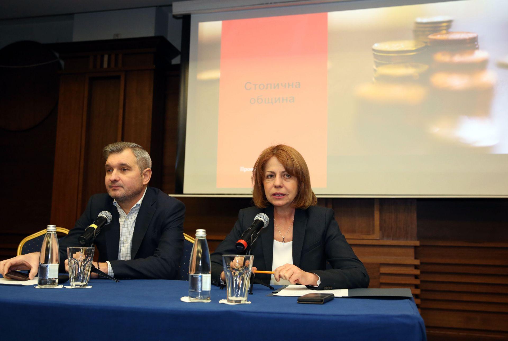 Председателят на Общинския съвет Елен Герджиков и кметът Йорданка Фандъкова
