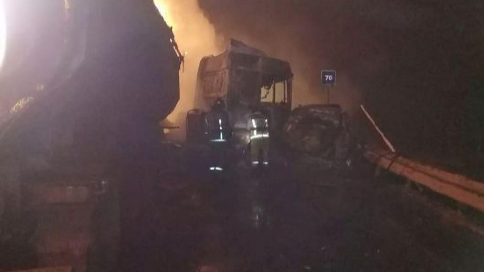 Дефектен светофар предизвика верижна катастрофа в Русия, има загинали и пет изгорели коли