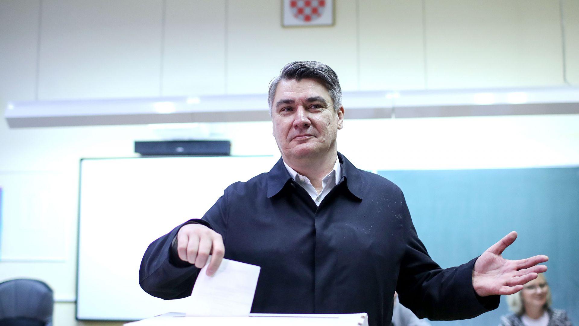 Опозиционният кандидат води на президентските избори в Хърватия